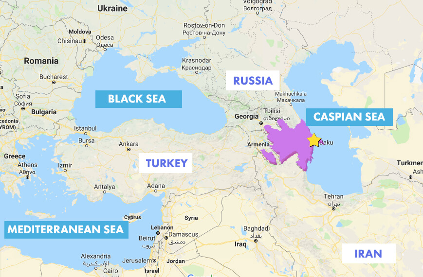 Fun Facts Where Azerbaijan is located on a map