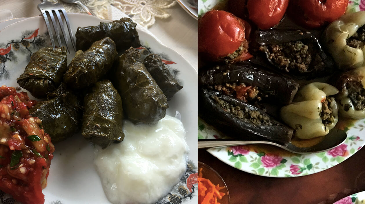 Variations of dolma dishes in Azerbaijan