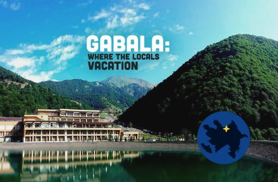 gabala Quabala Azerbaijan where the locals vacation mountain and lake