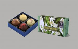 chocolate gift box and bar of soap