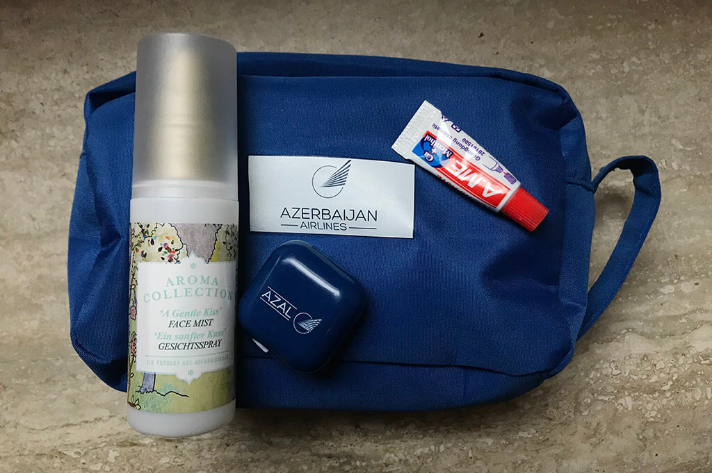 Wellness Kit from Azal Airlines Comfort Club class