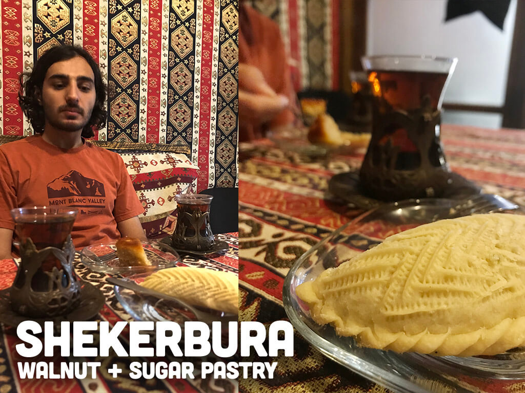 Shekerbura Pastry Azerbaijani and Tea Chai Old City Baku Azeerbaijan