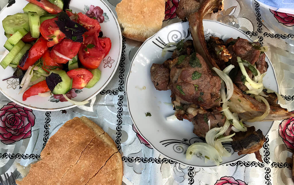 Şiş-kabab shish kebab Azerbaijani food authentic lamb meat
