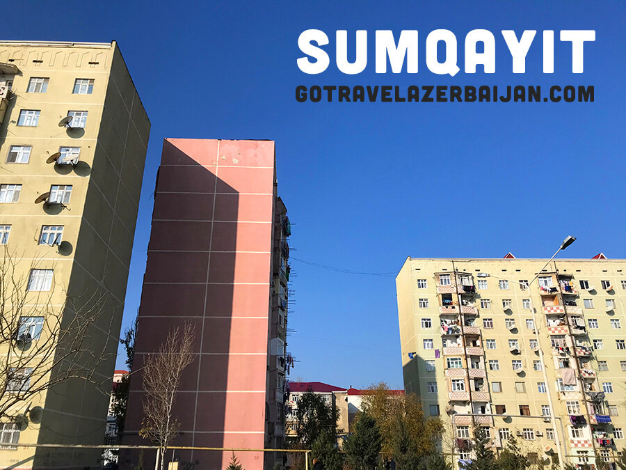 Colorful Buildings in Sumqayit Azerbaijan