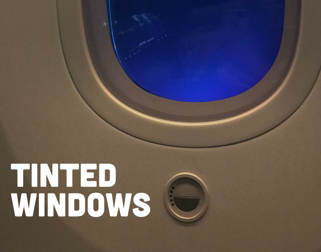 Tinted window feature from the Azerbaijan Airlines Comfort Club Class
