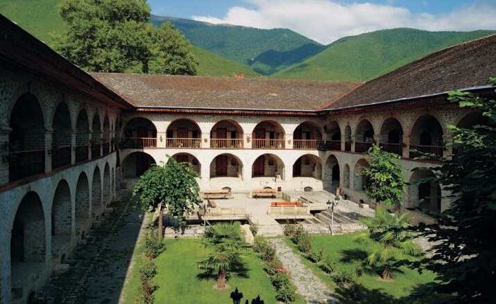 Caravanserai, sheki azerbaijan travel and hotel