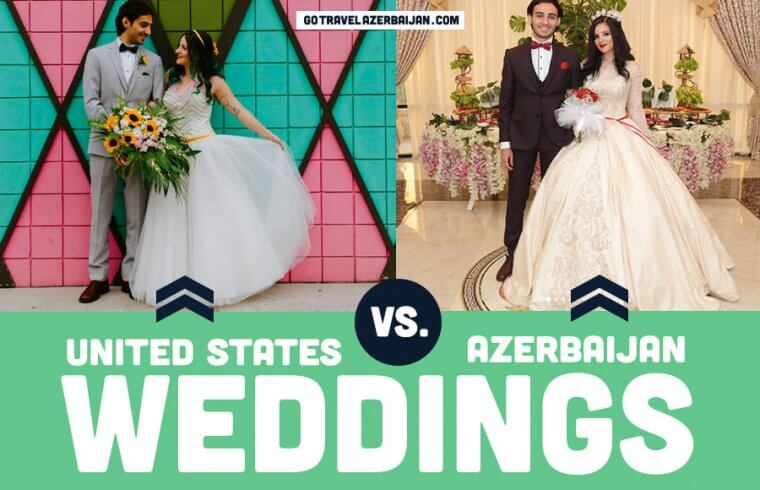 Weddings in Azerbaijan compared to the United States USA