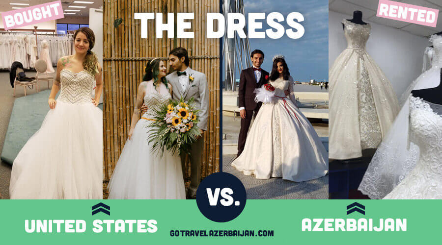 Traditional Azerbaijani Wedding Dress compared to Traditional United States Wedding Dresses